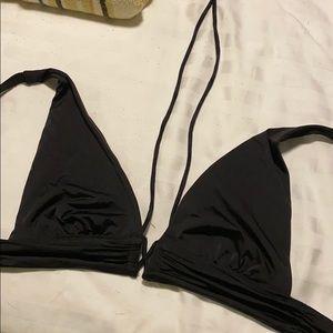 Multi-way black swim suit top